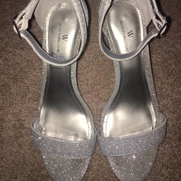 Silver Wide Width Chunky Heels